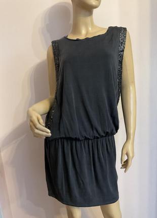 Суперовое короткое платье люксового сегмента/s/brend liu. jo.искусственный шёлк
