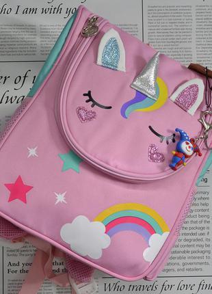 Детский каркасный рюкзачок, рюкзак, подарок, подарунок, девочке, дівчинці, єдиноріг, единорог, единорожка, unicorn