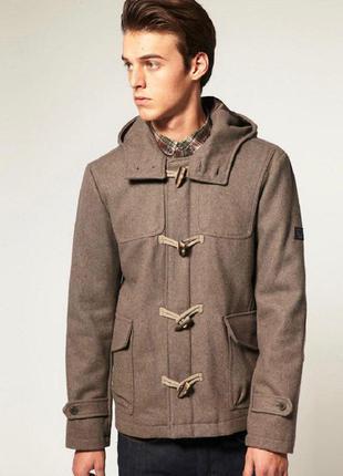 Мужское шерстяное пальто zara
