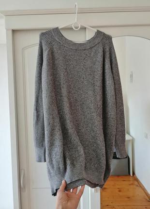 Тёплый свитер оверсайз