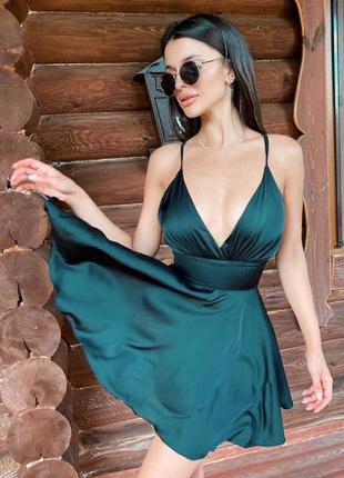 Платье изумрудного цвета, с, м, вечернее