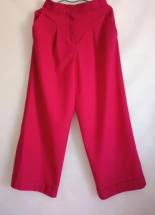 Стильные широкие брюки, палаццо cos, высокая посадка шерсть