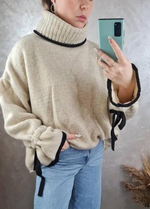 Оверсайз светрик zara knit