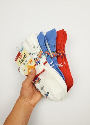 Бавовняні носки з візерунком nur die розмір 35-38, 39-42