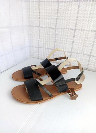 Кожа! эксклюзивные идеальные сандалии полностью из натуральной мягкой кожи с шлейками и ремешком