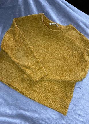 Желтая кофта /свитер pull&bear
