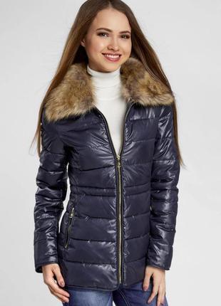 Куртка жіноча темно  синя oodji