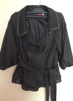 Жакет, куртка, стальная нить,s. 40% шерсть