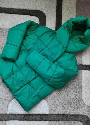 Куртка парка пальто плащ тренч зелений розмір с