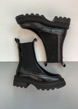 ❄️ шикарные зимние кожаные натуральные ботинки челси