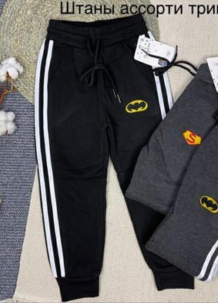 Спортивные штаны из тринити на флисе