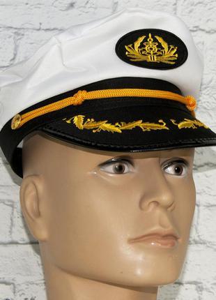 Фуражка капитана маскарадный головной убор кепка-капитанка + подарок