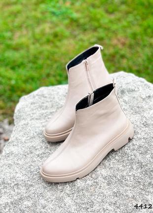 Ботинки женские maribel беж натуральная кожа байка черевики жіночі беж натуральна шкіра байка