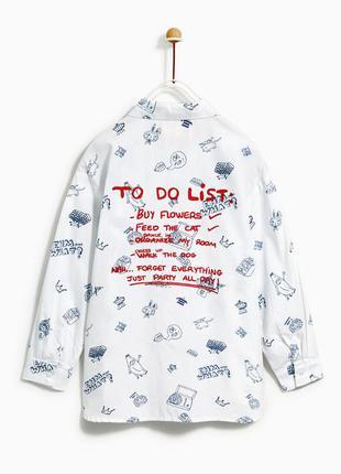 Очень стильная рубашка zara зара для девочки 7-9 лет