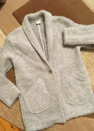 Оооочень тёплый шерстяной кардиган кофта пальто