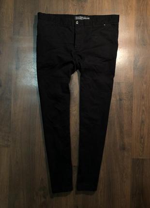 Мужские чёрные брюки штаны чиносы primark
