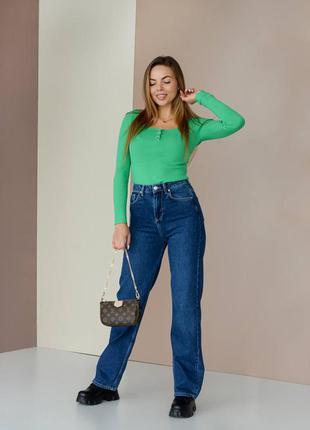 Джины труды, палаццо, прямые джинсы, синий denim, woman denim