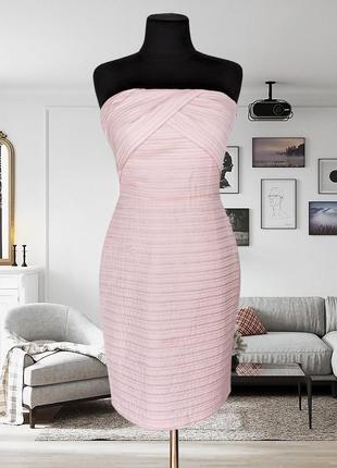 Платье корсетное нежно-розовое mango