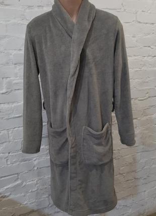 Новый мягенький мужской халат серого цвета miomare, р. м/48-50