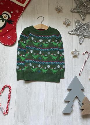 Новогодний свитер  3-4 года