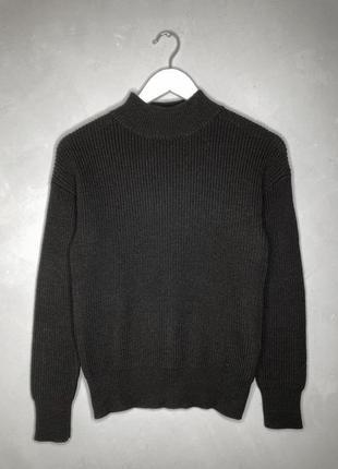 Вовняний чорний светр, шерстяной чёрный свитер