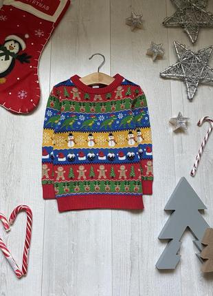 Новогодний свитер 2-3 года
