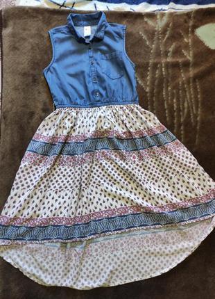 Оригинальное платье c&a на 11-12лет