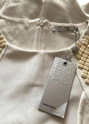 Стильное эффектное платье с этикеткой бренд vero moda р-р s/42-44 наш
