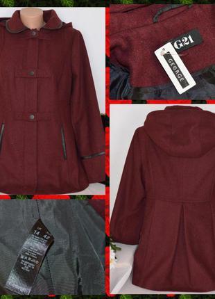 Очень красивое стильное  пальто с капюшоном george вьетнам