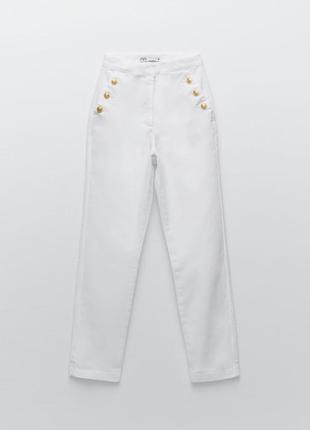 Новые джинсы мом , стрейт, zara