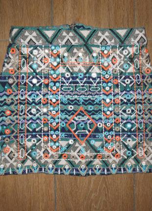 Стильная юбка river island вышивка