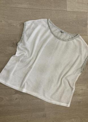 🍀нарядная футболка оверсайз  в сеточку