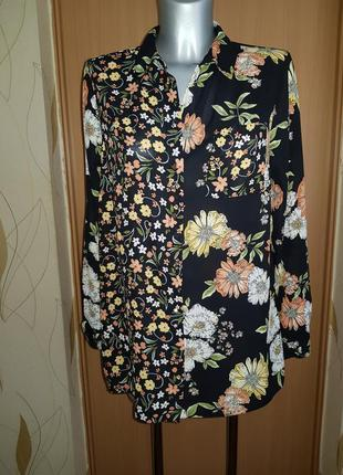 Бесплатная доставка ❤ стильная рубашка блуза оверсайзв цветы