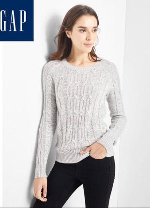 Хлопковый свитер/кофта/джемпер из крупной вязки gap