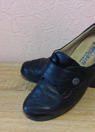 Красивые туфли hallux soft by goldkrone   натуральная кожа акция 1+1=3