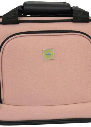 Дорожная сумка тканевая bonro best (пудровая / pink)