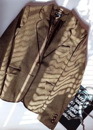 H&m hm шикарный винтажный твидовый пиджак жакет вінтажний твідовий піджак