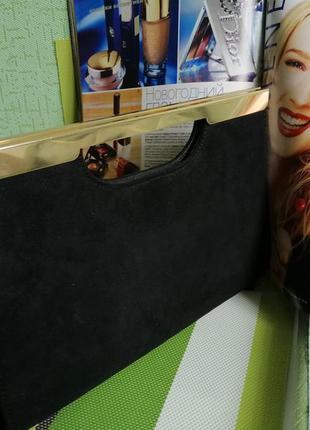 Вечерняя сумка. клатч. шикарная сумка. чёрная сумка