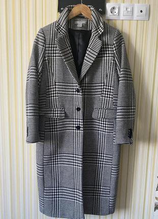 Стильное пальто в лапку от h&m