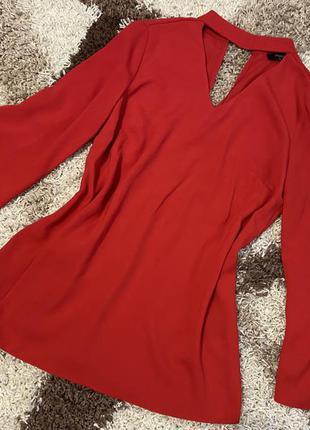 Блузка с чокером,блуза с длинным рукавом