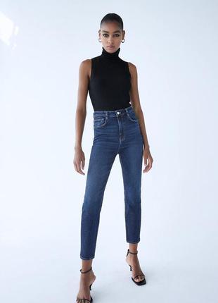 Zara джинсы в винтажном стиле с высокой посадкой 34, 36, 38, 40