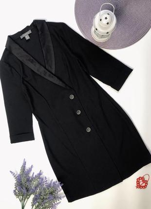 Чёрное платье-пиджак