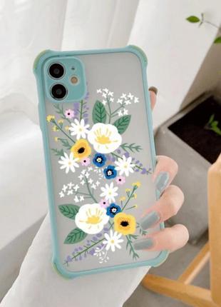 Чехол бампер разноцветный цветной на айфон на телефон for iphone 6 6s с защитой для камеры