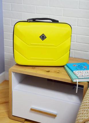 Кейс дорожный пластиковый мини xs bonro 147 (желтый / yellow)