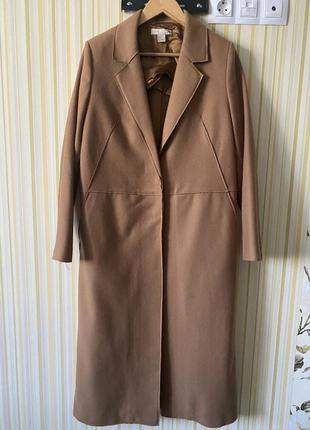 Пальто кемэл от h&m