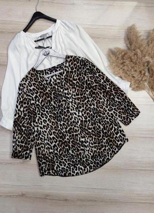 Леопардовая свободная блуза f&f p m