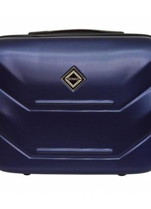 Кейс дорожный пластиковый мини xs bonro 147 (синий / blue)