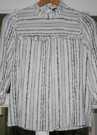 Стильная блуза рубашка - xs/s