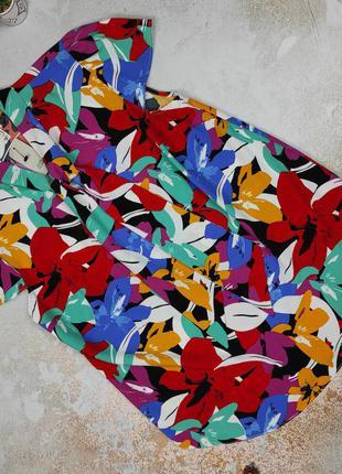 Блуза новая яркая модная river island uk 12/40/m