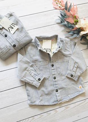 Рубашка джинсовая сорочка zara